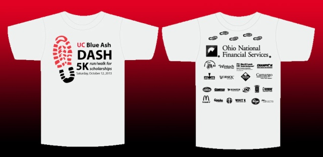 Tee shirt design for this years 5K Dash